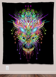 Dracomethyltryptamine Psychedelic UV-Reactive Tapestry (50x60in) - Tetramode® | Psy Styles. Men & Womens Psychedelic Tops & Bottoms