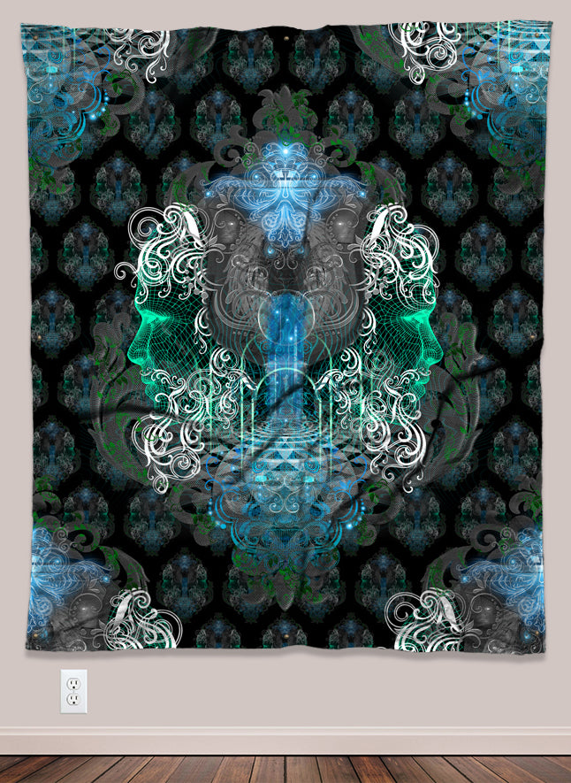 Elysian Immersion Psychedelic UV-Reactive Tapestry (50x60in) - Tetramode® | Psy Styles. Men & Womens Psychedelic Tops & Bottoms