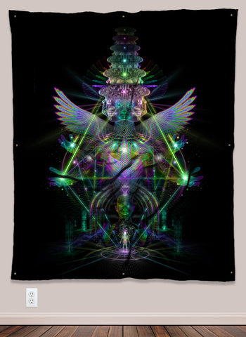 DMT Vision UV-Reactive Psychedelic Wall Art