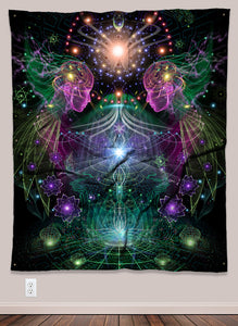Holobloom Psychedelic UV-Reactive Tapestry (50x60in) - Tetramode® | Psy Styles. Men & Womens Psychedelic Tops & Bottoms