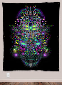 Huachamama Psychedelic UV-Reactive Tapestry (50x60in) - Tetramode® | Psy Styles. Men & Womens Psychedelic Tops & Bottoms
