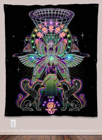 Ancient Trippy Vision UV-Reactive Psychedelic Wall Art
