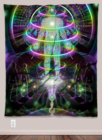 Launch Pad Psychedelic UV-Reactive Tapestry (50x60in)