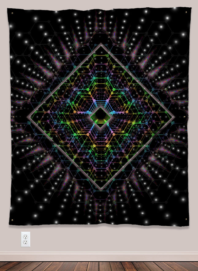 Acid Vision UV-Reactive Psychedelic Wall Art