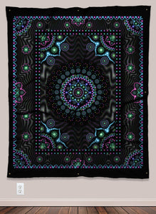 Lumindala Psychedelic UV-Reactive Tapestry (50x60in) - Tetramode® | Psy Styles. Men & Womens Psychedelic Tops & Bottoms