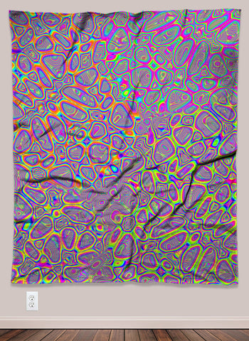 Rainbow Patterned Trippy Acid UV-Reactive Psychedelic Wall Art