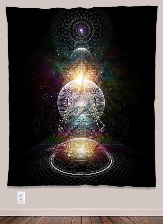 Metatron Psychedelic UV-Reactive Tapestry