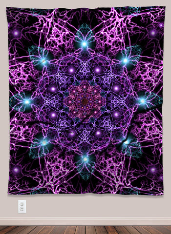 Nucleus Psychedelic UV-Reactive Tapestry (50x60in) - Tetramode® | Psy Styles. Men & Womens Psychedelic Tops & Bottoms