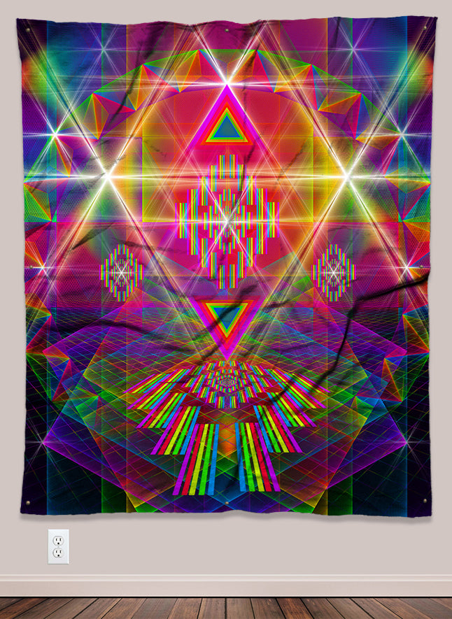 Prismystic Psychedelic UV-Reactive Tapestry (50x60in)