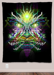 Powerful Electronic Spirit UV-Reactive Psychedelic Wall Art