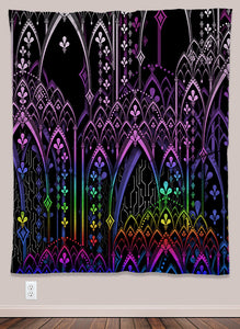Sanctum Psychedelic UV-Reactive Tapestry (50x60in) - Tetramode® | Psy Styles. Men & Womens Psychedelic Tops & Bottoms