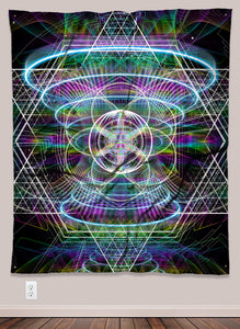 Source Generator Psychedelic UV-Reactive Tapestry (50x60in) - Tetramode® | Psy Styles. Men & Womens Psychedelic Tops & Bottoms