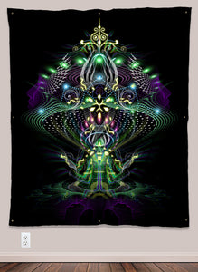 Fungus Magic Mushroom Alien UV-Reactive Psychedelic Wall Art