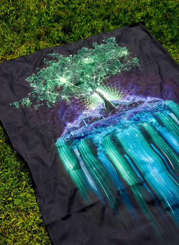 Tree of Life Psychedelic UV-Reactive Tapestry (50x60in) - Tetramode® | Psy Styles. Men & Womens Psychedelic Tops & Bottoms