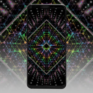 Lightspeed Psychedelic Phone Wallpaper - Tetramode® | Psy Styles. Men & Womens Psychedelic Tops & Bottoms