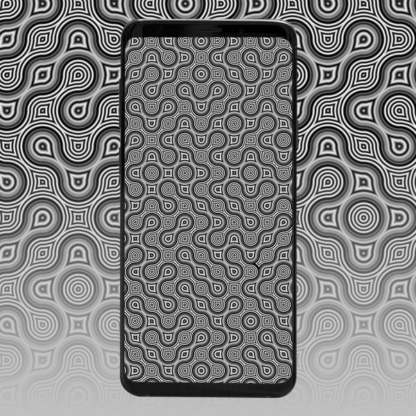 Thumbprint Psychedelic Phone Wallpaper