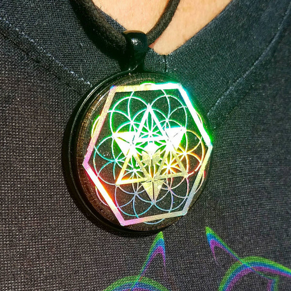Holographic Orgonite Tetra Pendant - FREE SHIPPING! - Tetramode® | Psy Styles. Men & Womens Psychedelic Tops & Bottoms