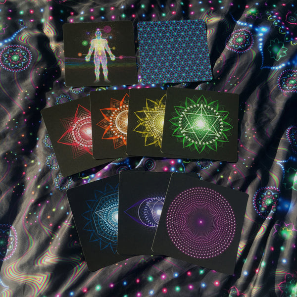 Light Body Activation Deck (Chakra Meditation Cards) - Tetramode® | Psy Styles. Men & Womens Psychedelic Tops & Bottoms