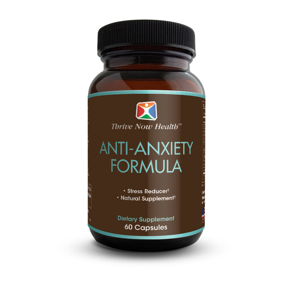 Anti-Anxiety Formula w/ Biotin (60 Veggie Capsules), Natural Stress Relief Supplement