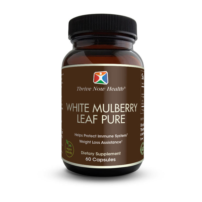 White Mulberry Leaf Extract (60 Capsules) Daily Supplement for Weight Loss and Glucose Support, Blood Sugar Control | Natural Appetite Suppressant