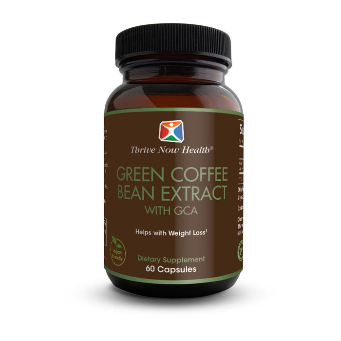 Green Coffee Bean Extract w/ GCA (60 Capsules) Natural Weight Loss Supplement and Metabolism Booster | Pure Antioxidants | Non-GMO, Gluten Free