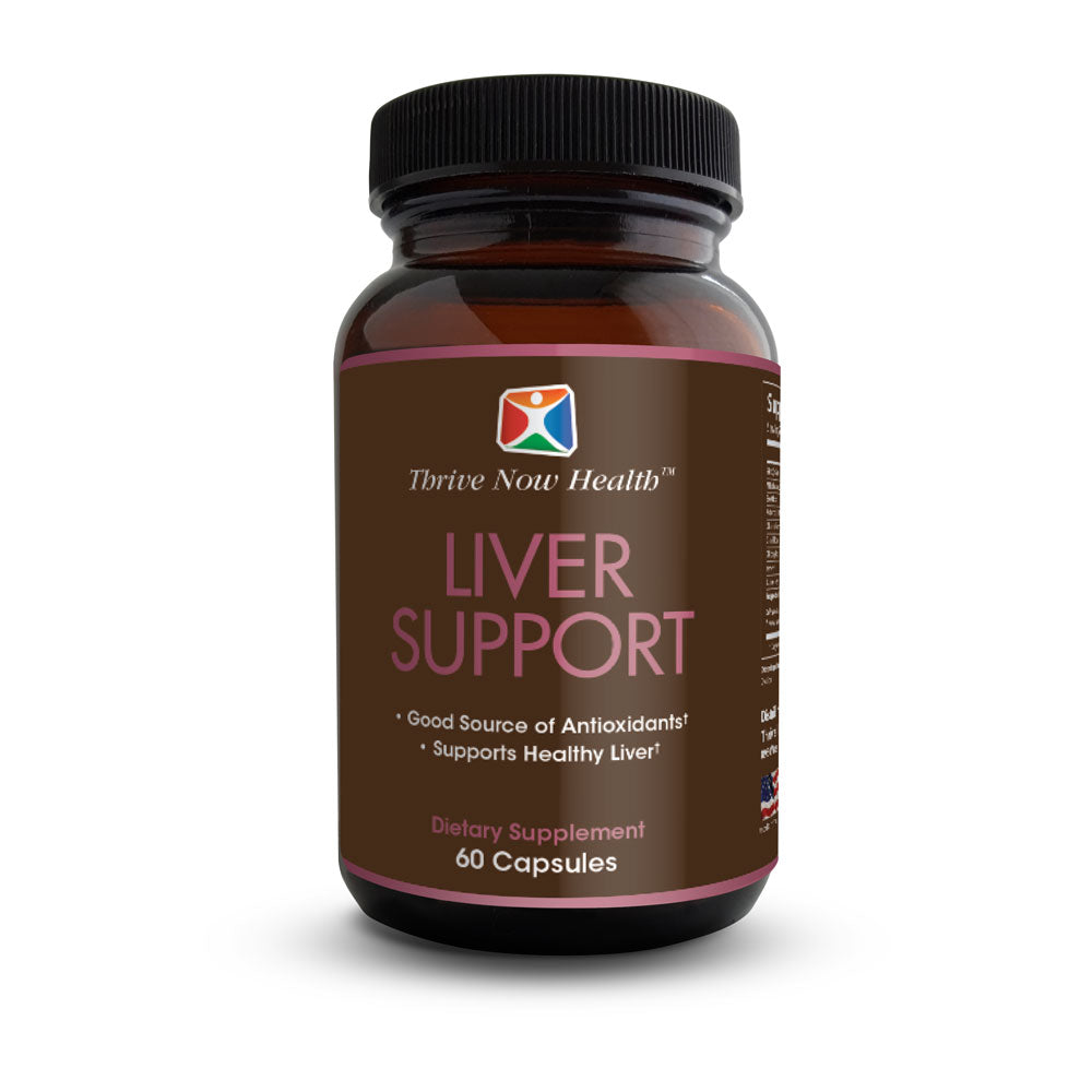 Liver Support Supplement w/ Milk Thistle Extract (60 Capsules)