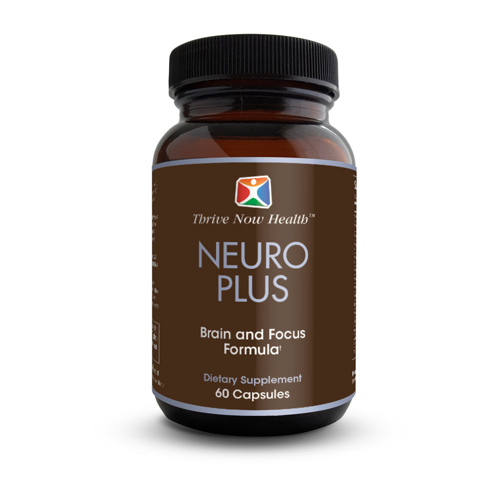 Neuro Plus Brain Supplement w/ Biotin (60 Capsules) Natural Nootropic