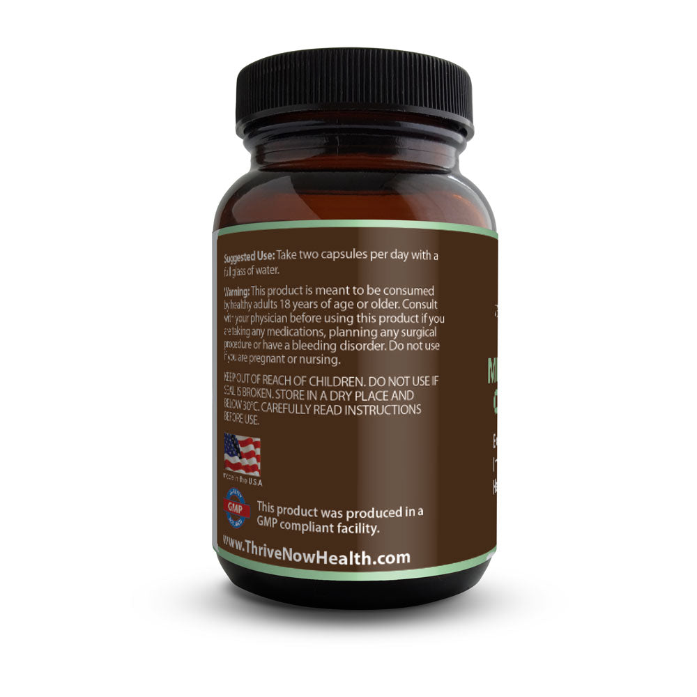 Ultra Mushroom Complex (120 Capsules) Reishi, Cordyceps, Chaga, Lion's Mane, Shiitake, Oyster, Immune System Support, Vegan Friendly Supplement