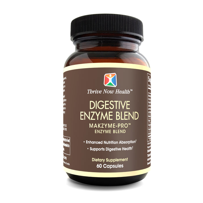 Digestive Enzyme Blend, All Natural, Aids in limiting Bloating and Flatulence 60 capsules