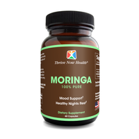 Pure Moringa Oleifera (60 Capsules) Organic Leaf Extract, Anti-Aging Antioxidants, Natural Sleep Aid.