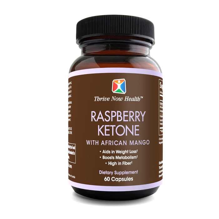 Raspberry Ketone with African Mango, Boosts Metabolism, Appetite Control, 60 capsules