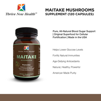 Maitake Mushrooms Supplement, Original Superfood for Cellular Fortification, 120 Capsules