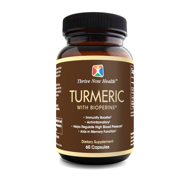 Turmeric with Bioperine Supplement, Immunity Booster. 60 count