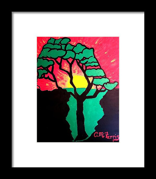 African Sunset  - Framed Print