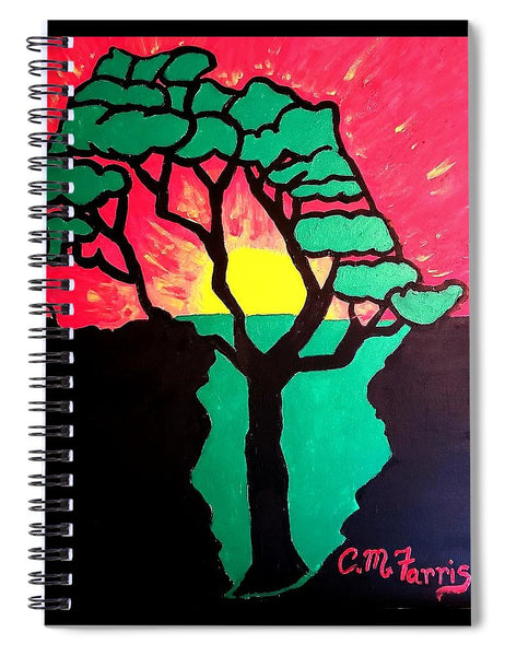 African Sunset  - Spiral Notebook
