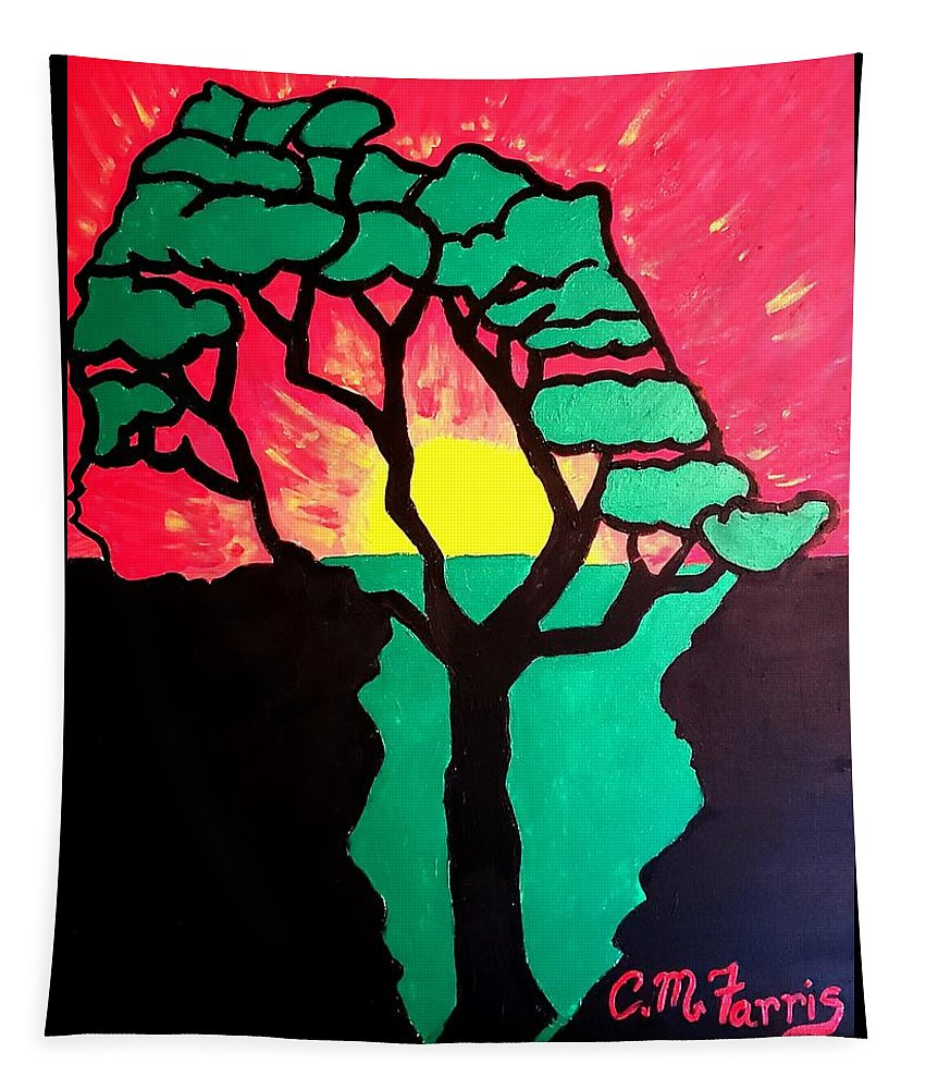 African Sunset  - Tapestry