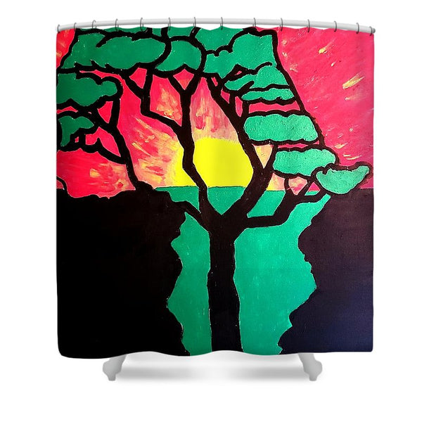 African Sunset  - Shower Curtain