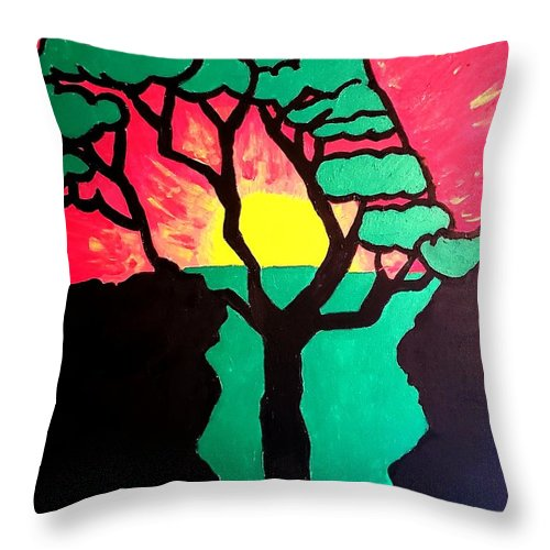 African Sunset  - Throw Pillow