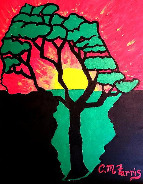 African Sunset  - Art Print
