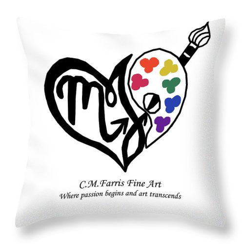 Throw Pillow - Cmfarris Logo Brand