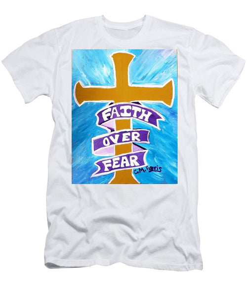 Faith Over Fear Cross  - Men's T-Shirt (Athletic Fit)