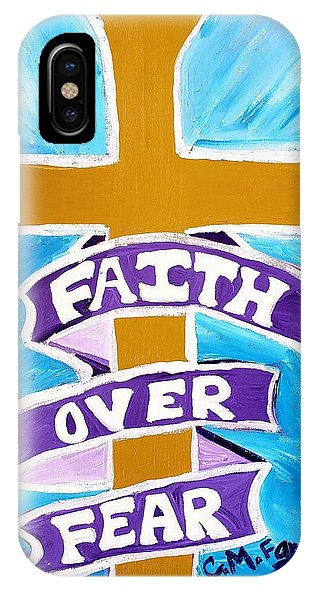 Faith Over Fear Cross  - Phone Case