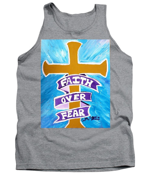 Faith Over Fear Cross  - Tank Top