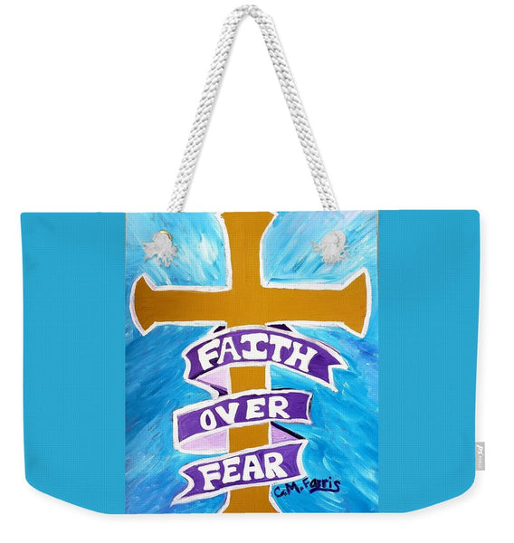 Faith Over Fear Cross  - Weekender Tote Bag