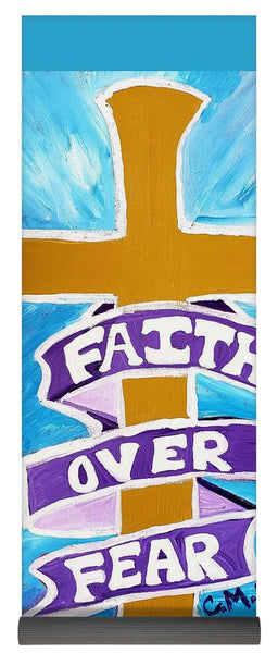 Faith Over Fear Cross  - Yoga Mat