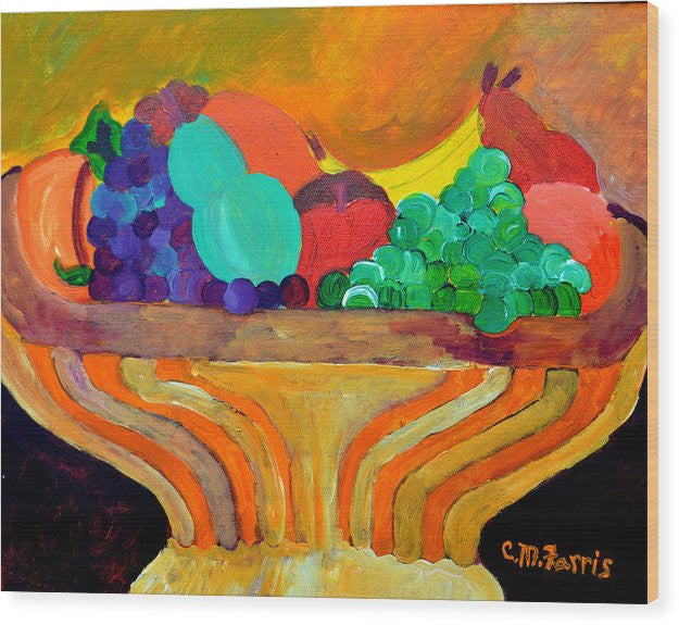Fruit Bowl 1 - Wood Print