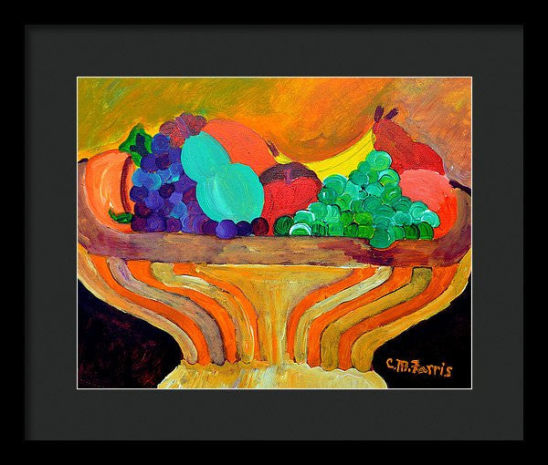 Fruit Bowl 1 - Framed Print