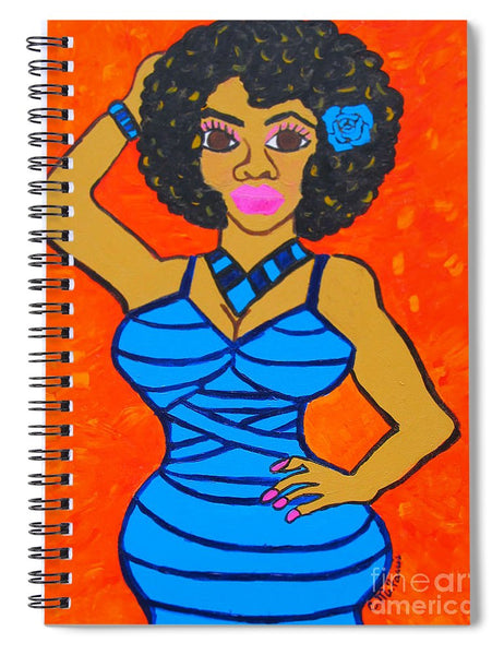 Lovely Lady - Spiral Notebook