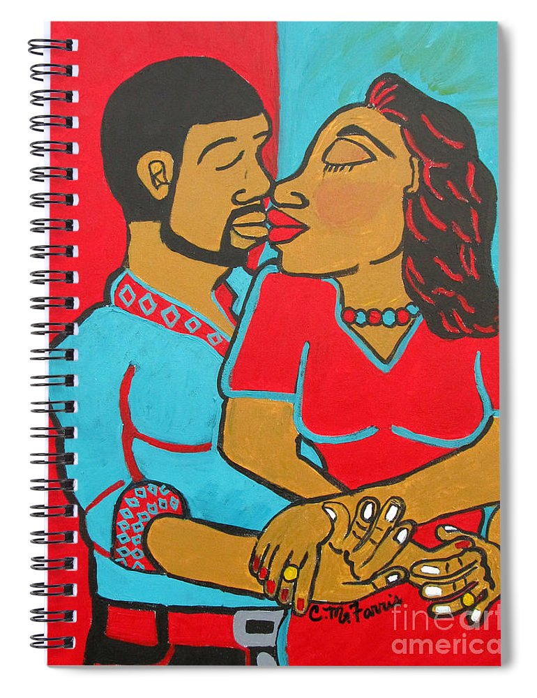 Lovers Embrace - Spiral Notebook