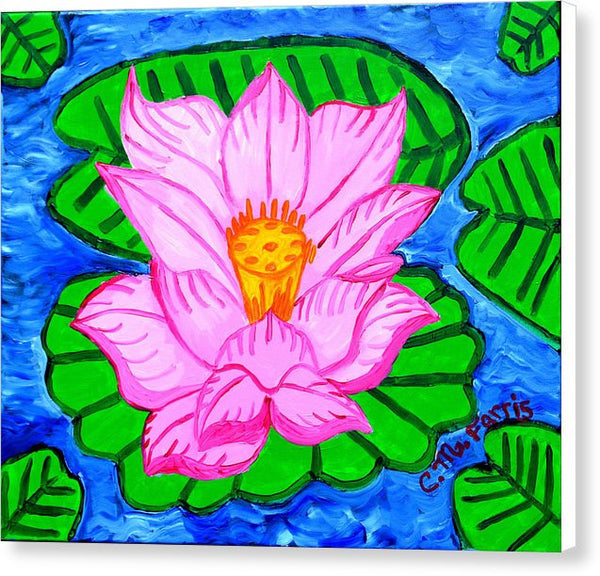 Pink Lotus Flower - Canvas Print